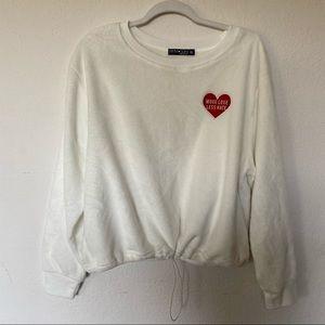Fifth Sun 'More Love Less Hate' Fleece Sweatshirt